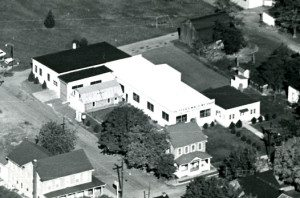 Photo of the original Peiffer Machine buildings in 1974
