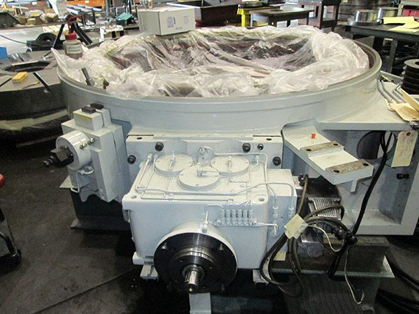 Toshiba vertical lathe after field service repair.
